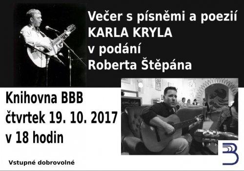 Večer s písněmi a poezií KARLA KRYLA