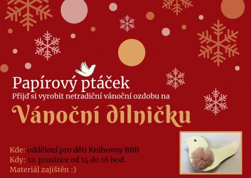 Vánoční dílnička pro děti